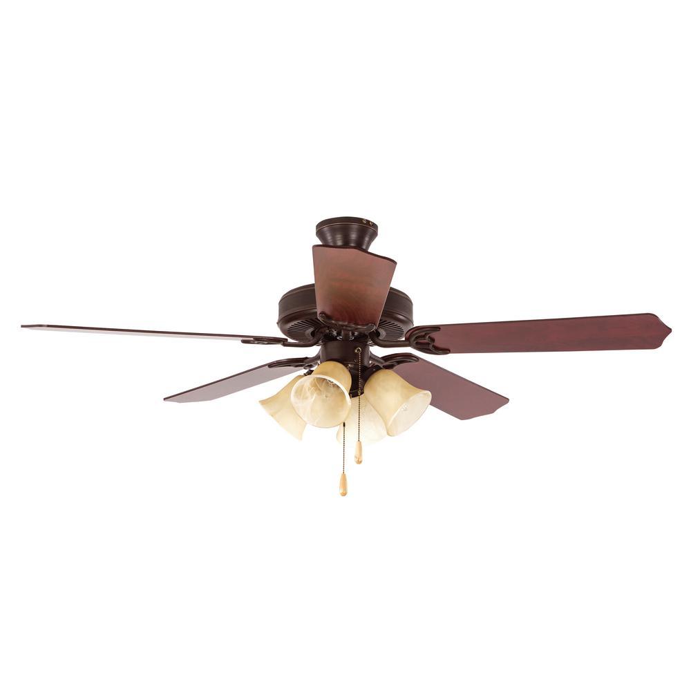Westfield 52 in. Indoor Oil Rubbed Bronze Ceiling Fan with Light