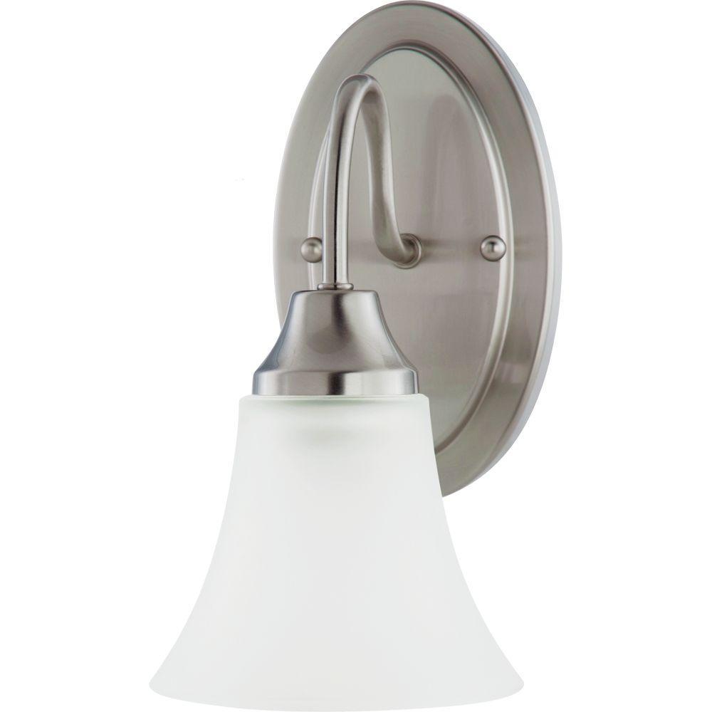 Holman 1-Light Brushed Nickel Sconce