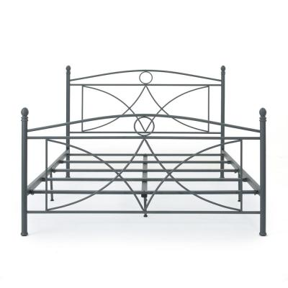 Delphine Matte Dark Grey Queen Bed Frame