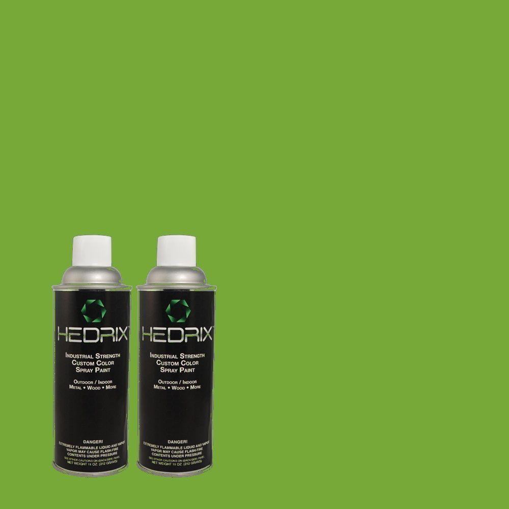 Hedrix 11 oz. Match of 430B-6 Caterpillar Gloss Custom Spray Paint (2-Pack)