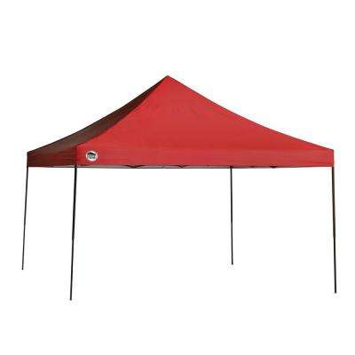 ST144 12 ft. x 12 ft. Red Straight Leg Canopy