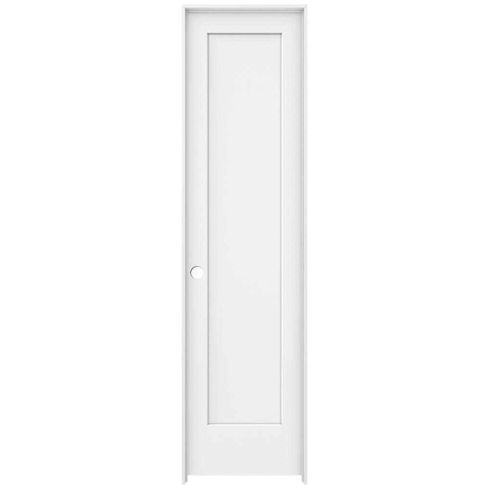 Jeld Wen 24 In X 96 In Madison White Painted Right Hand Smooth Solid Core Molded Composite Mdf