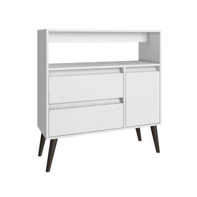 Gota White Storage Console Table