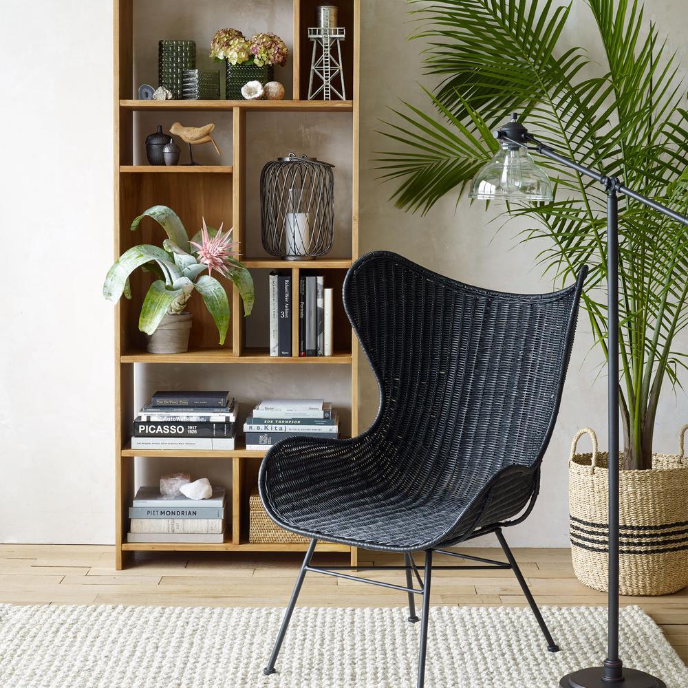 Design Ideas Scarborough Tan And Black Striped Palm Leaf