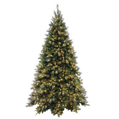 7-1/2 ft. Tiffany Fir Medium Hinged Artificial Christmas Tree with 700 Clear Lights