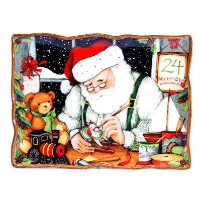 Santa's Workshop Earthenware Rectangular Platter