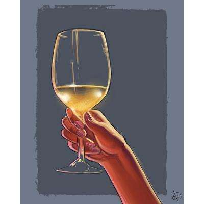 "16 in. x 20 in. ""A Toast to You"" Planked Wood Wall Art Print"