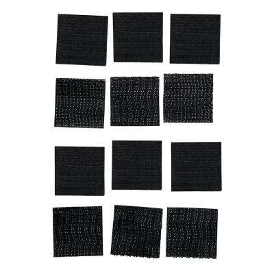 Scotch 1 in. x 1 in. (25,4 mm x 25,4 mm) Black Extreme Mounting Squares (36 Squares per Pack)