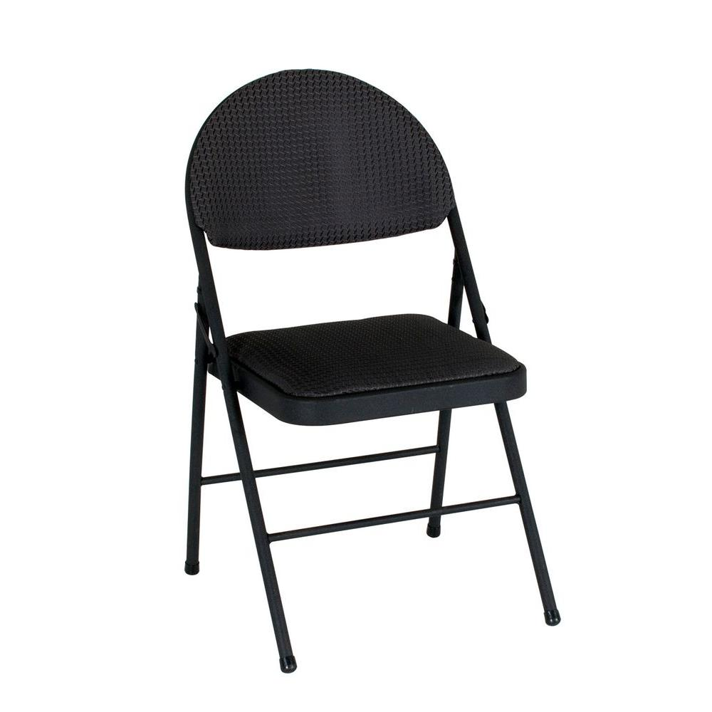 Cosco Black Folding Chair Set Of 4 37975tms4e The Home