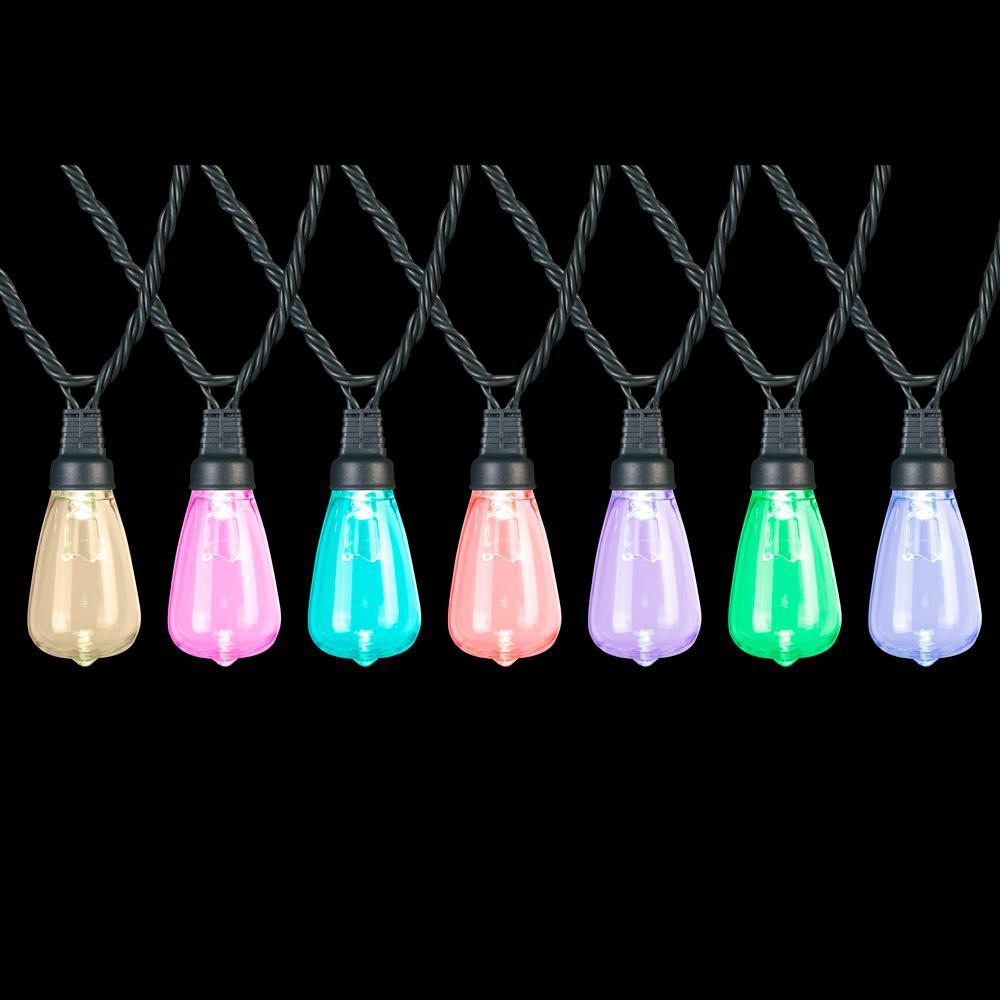12-Light Multi-Color Edison Bulbs Light Set