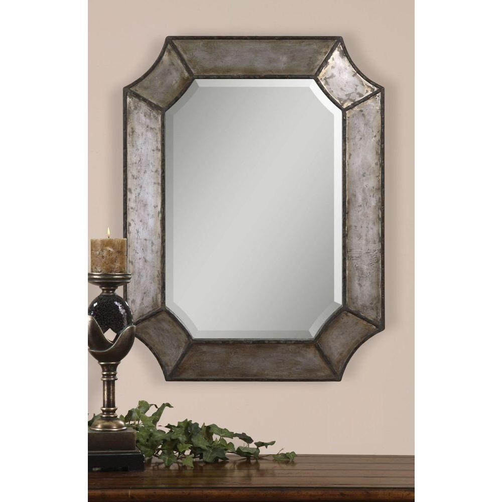 Global direct 24 in x 32 in decorative metal framed for Decorative wall mirrors