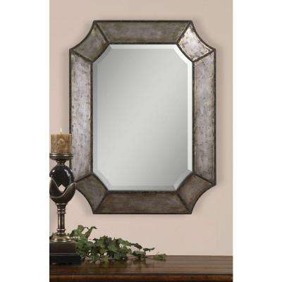 24 in. X 32 in. Decorative Metal Framed Mirror