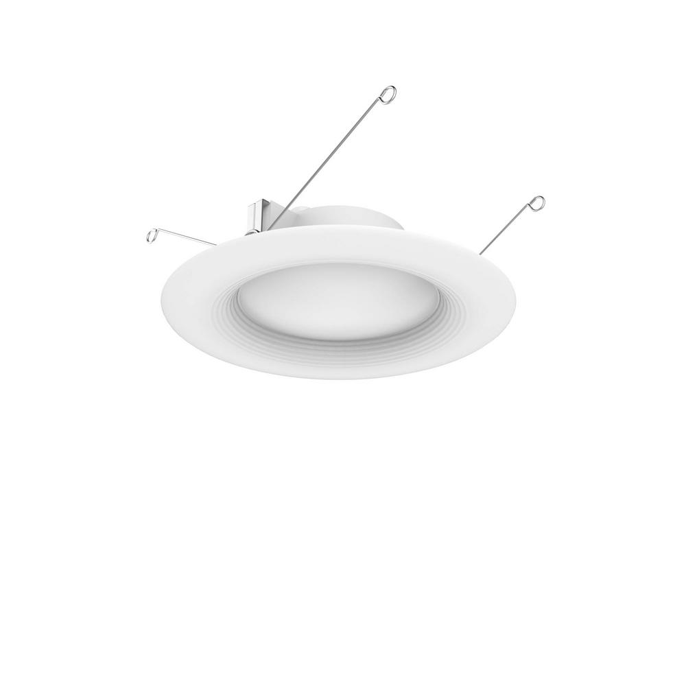 Ecosmart 6 In White Integrated Led Recessed Trim 4 Pack