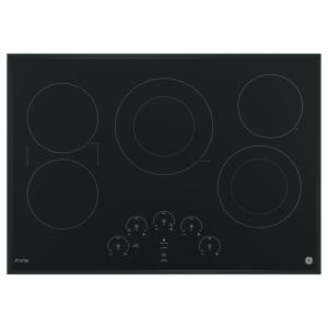Profile 30 in. Electric Cooktop in Black with 5 Elements including Rapid Boil and Exact Fit