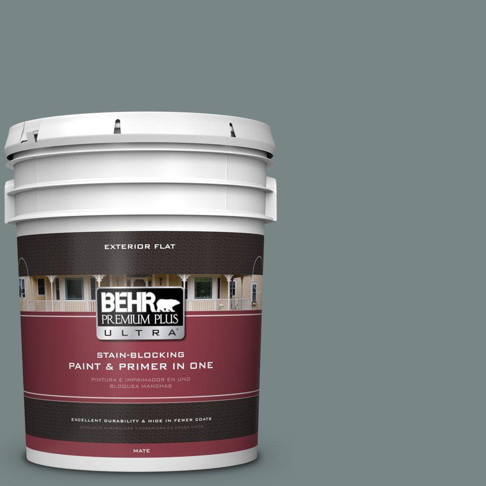 BEHR Premium Plus Ultra 5-gal. #PPU12-16 Juniper Ash Flat Exterior Paint