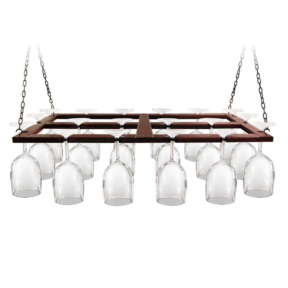 Epicureanist Wood Ceiling Hanging Wine Glas Rack Ep Hangrack1 The