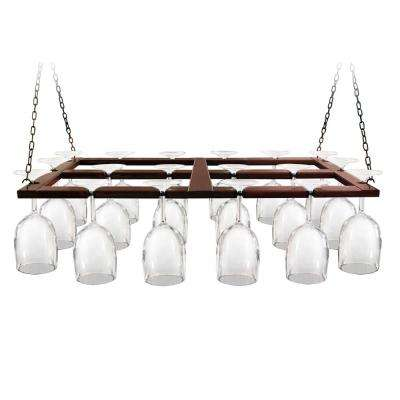 Wood Ceiling Hanging Wine Glas Rack