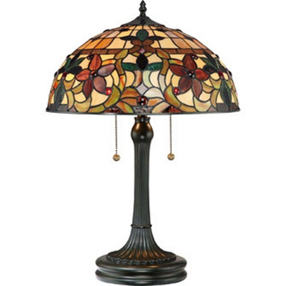 Serena D Italia Tiffany Style 61 In Bronze Floor Lamp And 22 In Table Lamp Set Dy878set The
