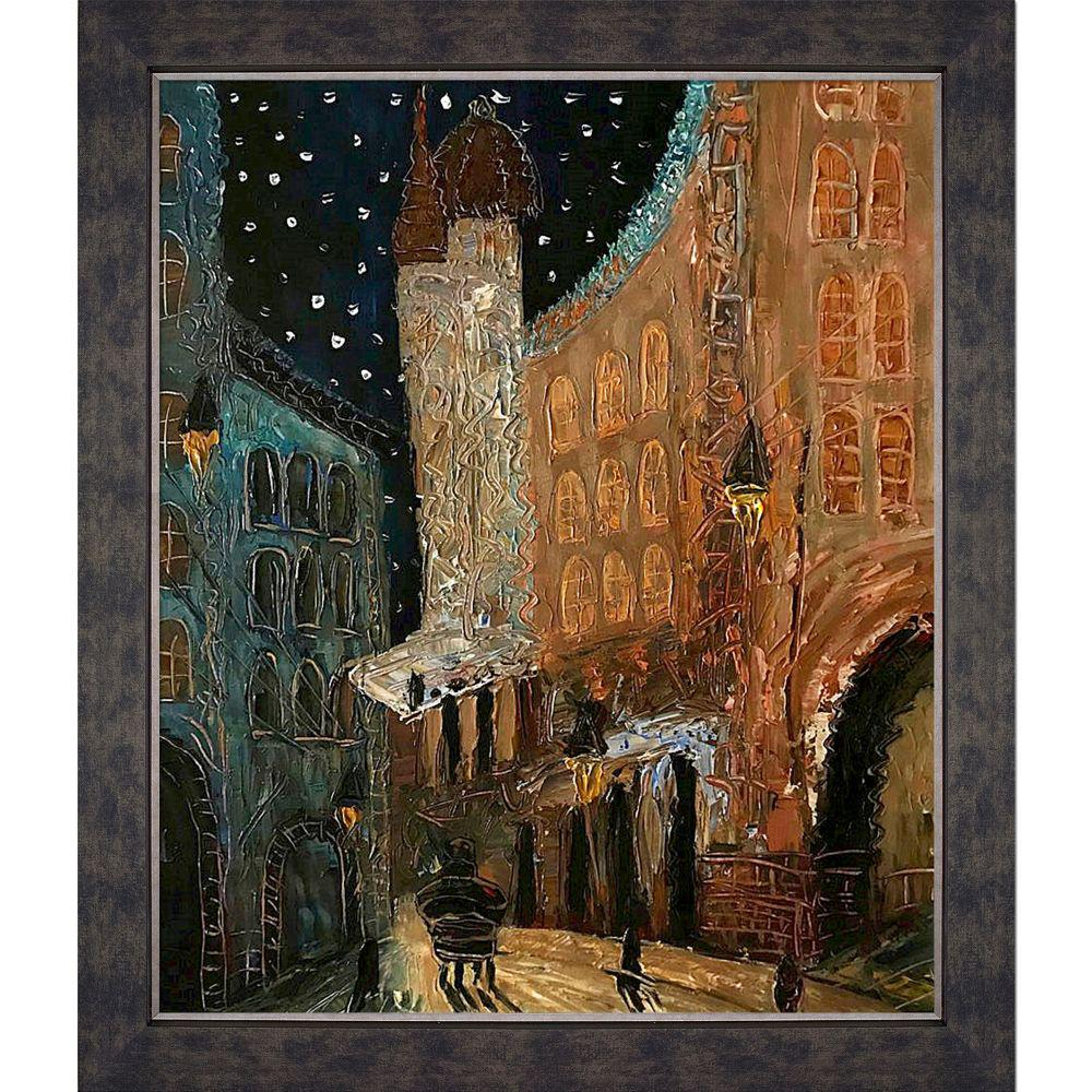 ArtistBe Old Town Reproduction with Suede Premier FrameCanvas Print, Multi-color was $646.01 now $338.06 (48.0% off)