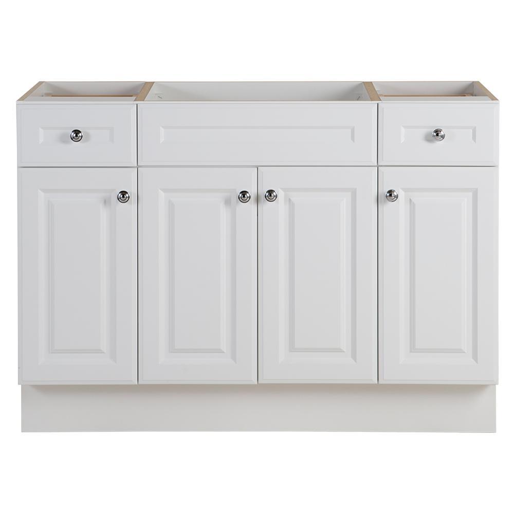 GLACIER BAY Glacier Bay Glensford 48 in. W x 22 in. D Bathroom Vanity Cabinet in White