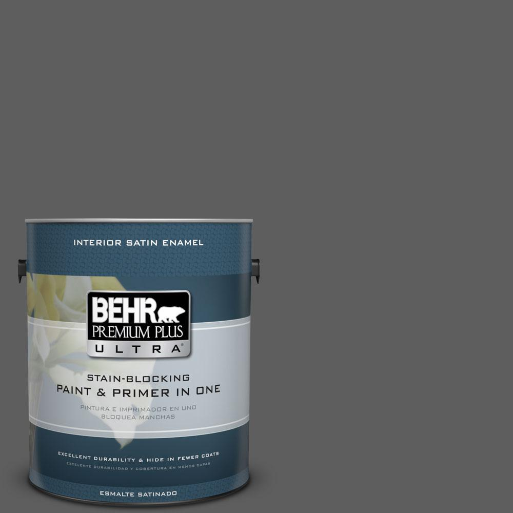 Behr Premium Plus Ultra 1 Gal N520 6 Asphalt Gray Satin