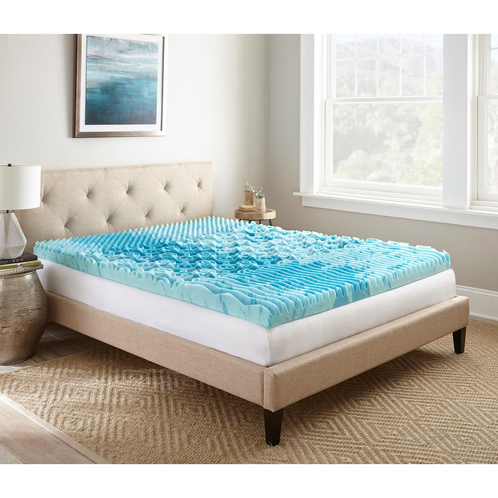 Lane 3 In Twin Gellux Gel Memory Foam Mattress Topper Hddod003ltw The Home Depot