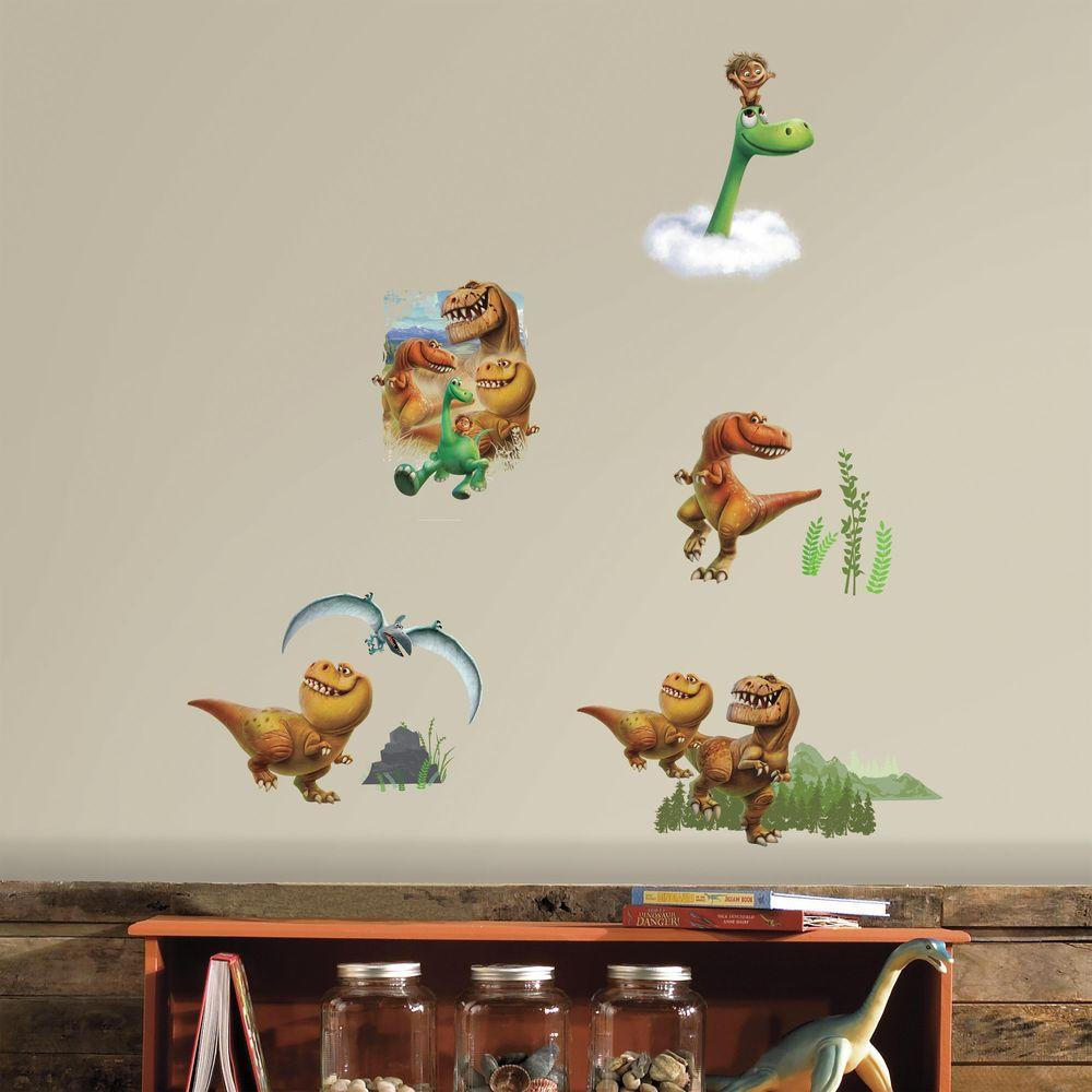 H Good Dinosaur L And Stick Wall Decal Rmk3008scs The Home Depot