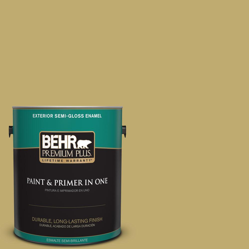 1-gal. #370F-5 Coriander Seed Semi-Gloss Enamel Exterior Paint
