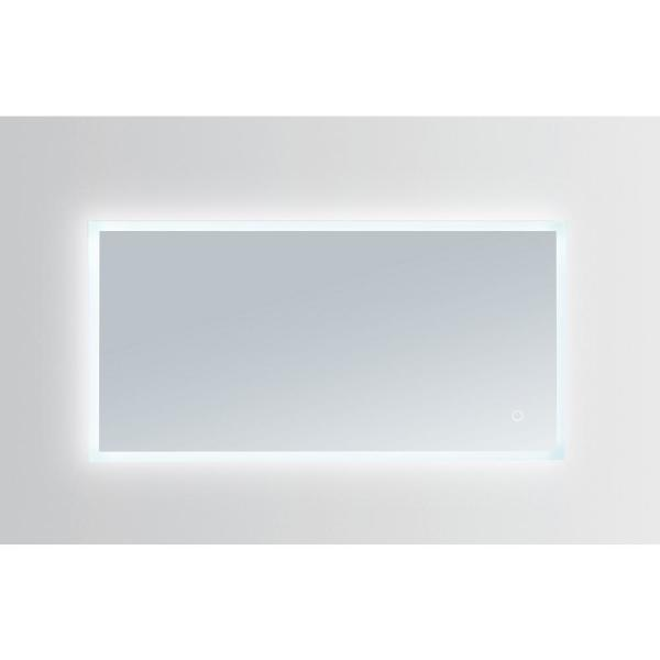 Hera 48 in. W x 24 in. H Frameless Rectangular LED Light Bathroom Vanity Mirror