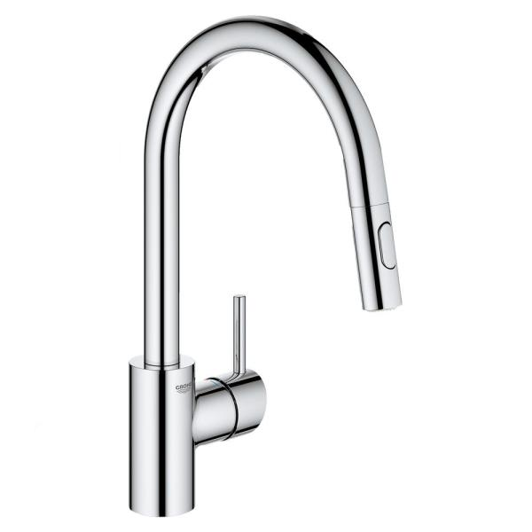 Concetto Single-Handle Dual Spray Pull-Out Sprayer Kitchen Faucet 1.75 GPM in StarLight Chrome