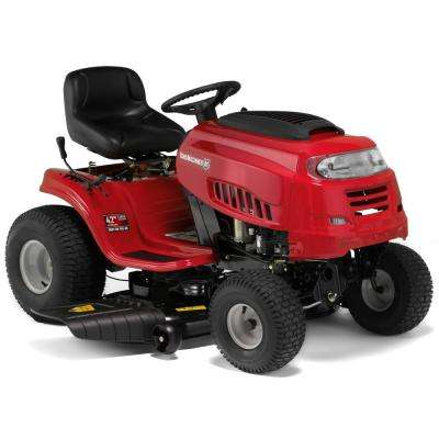 42 in. 420cc OHV Engine Gas 7-Speed Manual Lawn Tractor with Mow in Reverse