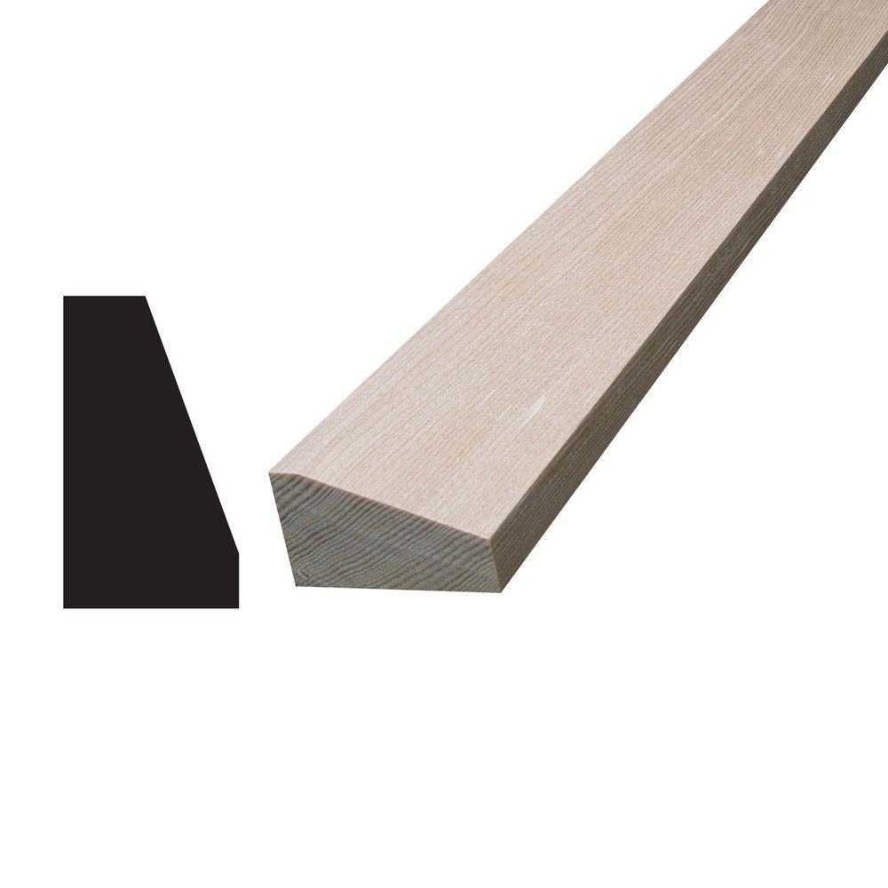 3/4 in. x 1-1/4 in. x 96 in. Hemlock Wood Drip Cap Moulding