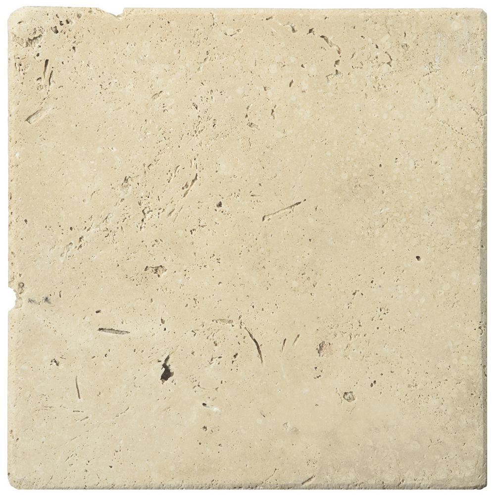 Trav Ancient Tumbled Beige 5.91 in. x 5.91 in. Travertine Wall
