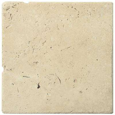 Trav Ancient Tumbled Beige 5.91 in. x 5.91 in. Travertine Wall Tile