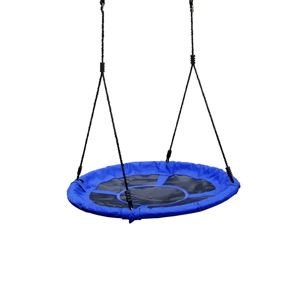 Gorilla Playsets Eclipse Blue Extra Large Swing with Black Rope