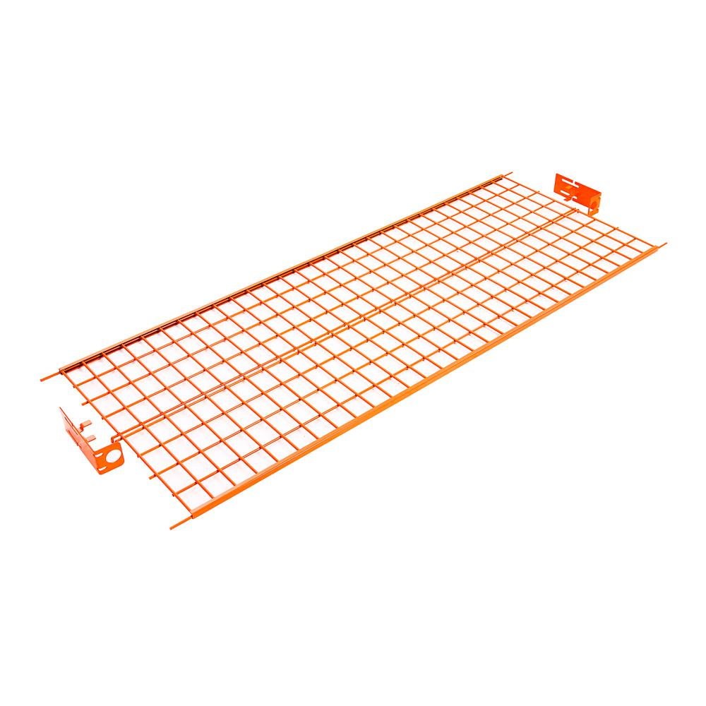 X 0 25 In H Orange Steel Wire Shelf