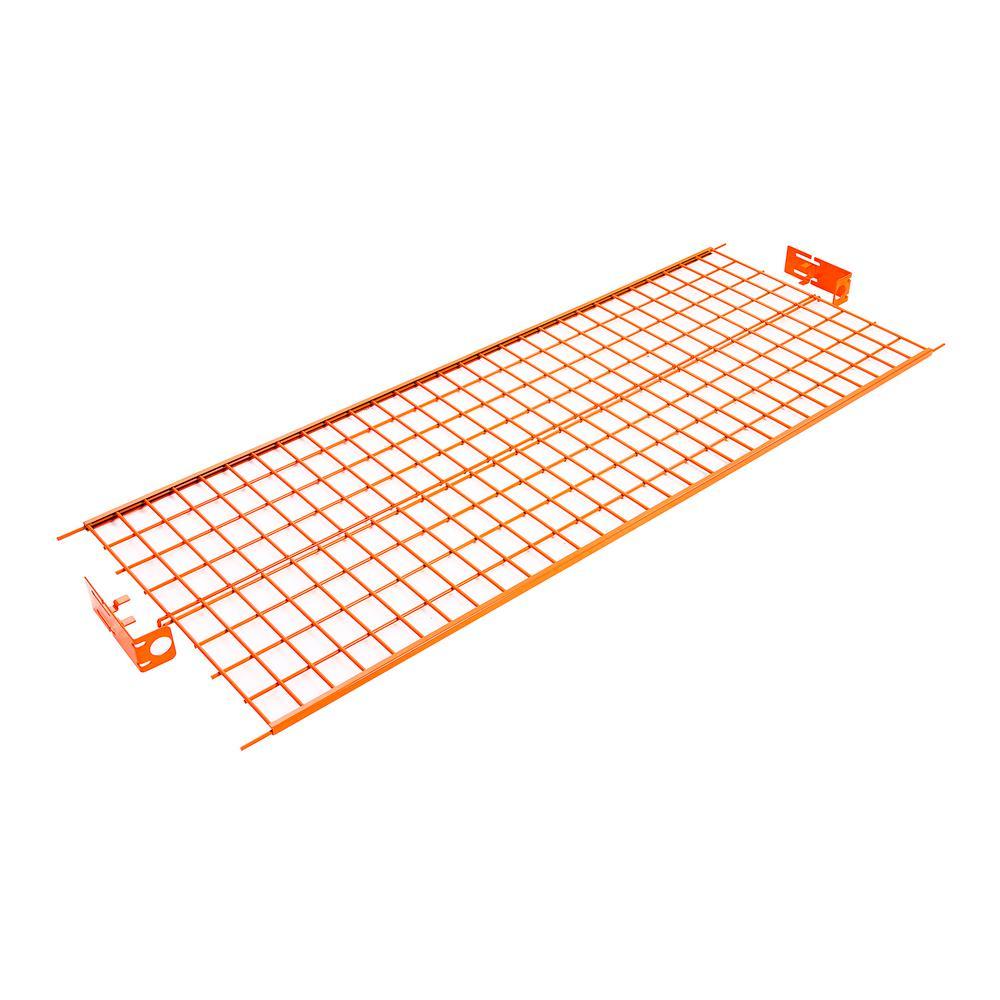 60 in. W x 0.25 in. H Orange Steel Wire Shelf for Rolling Garment Rack