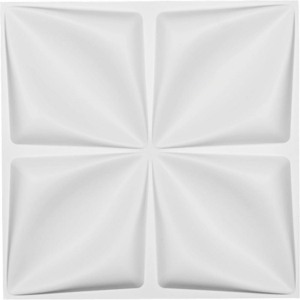 1 in. x 19-5/8 in. x 19-5/8 in. White PVC Riley