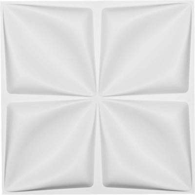 1 in. x 19-5/8 in. x 19-5/8 in. White PVC Riley EnduraWall Decorative 3D Wall Panel