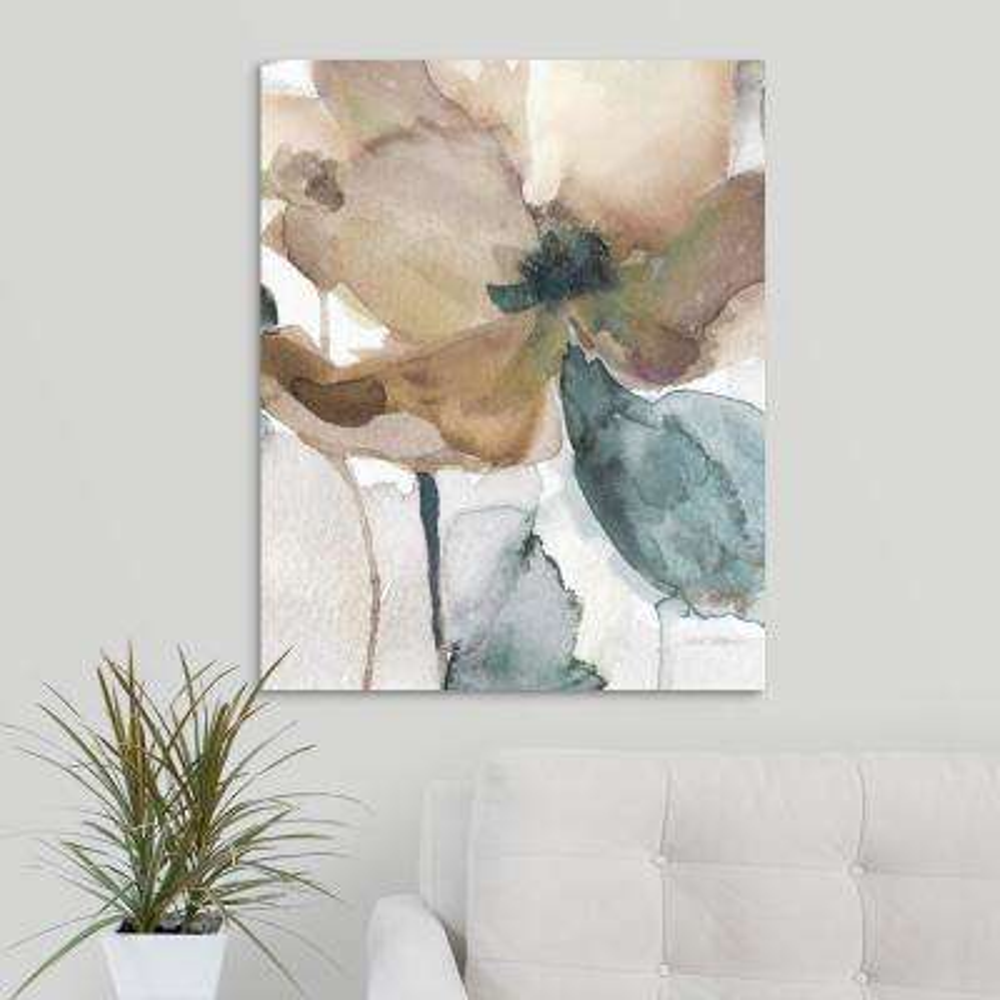 """Watercolor Poppy I"" by Carol Robinson Canvas Wall Art"