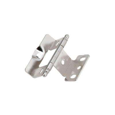 Full Inset, Full Wrap, Ball Tip Sterling Nickel Hinge with 3/4in(19mm) Door Thick