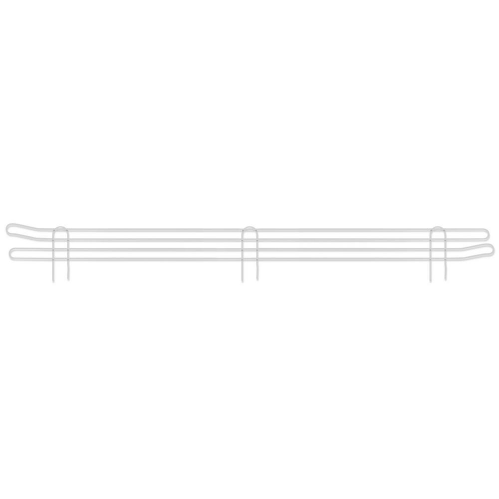 Honey-Can-Do 48 in. Steel Anti-Slide Shelving Screen in White