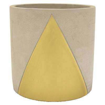 8 in. Planter - Grey/Gold