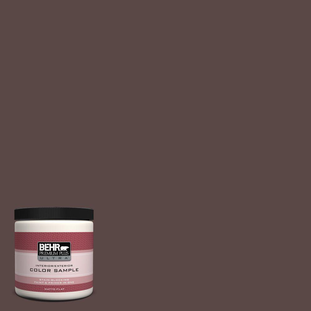 BEHR Premium Plus Ultra 8 oz. #750B-7 Thick Chocolate Interior/Exterior Paint Sample