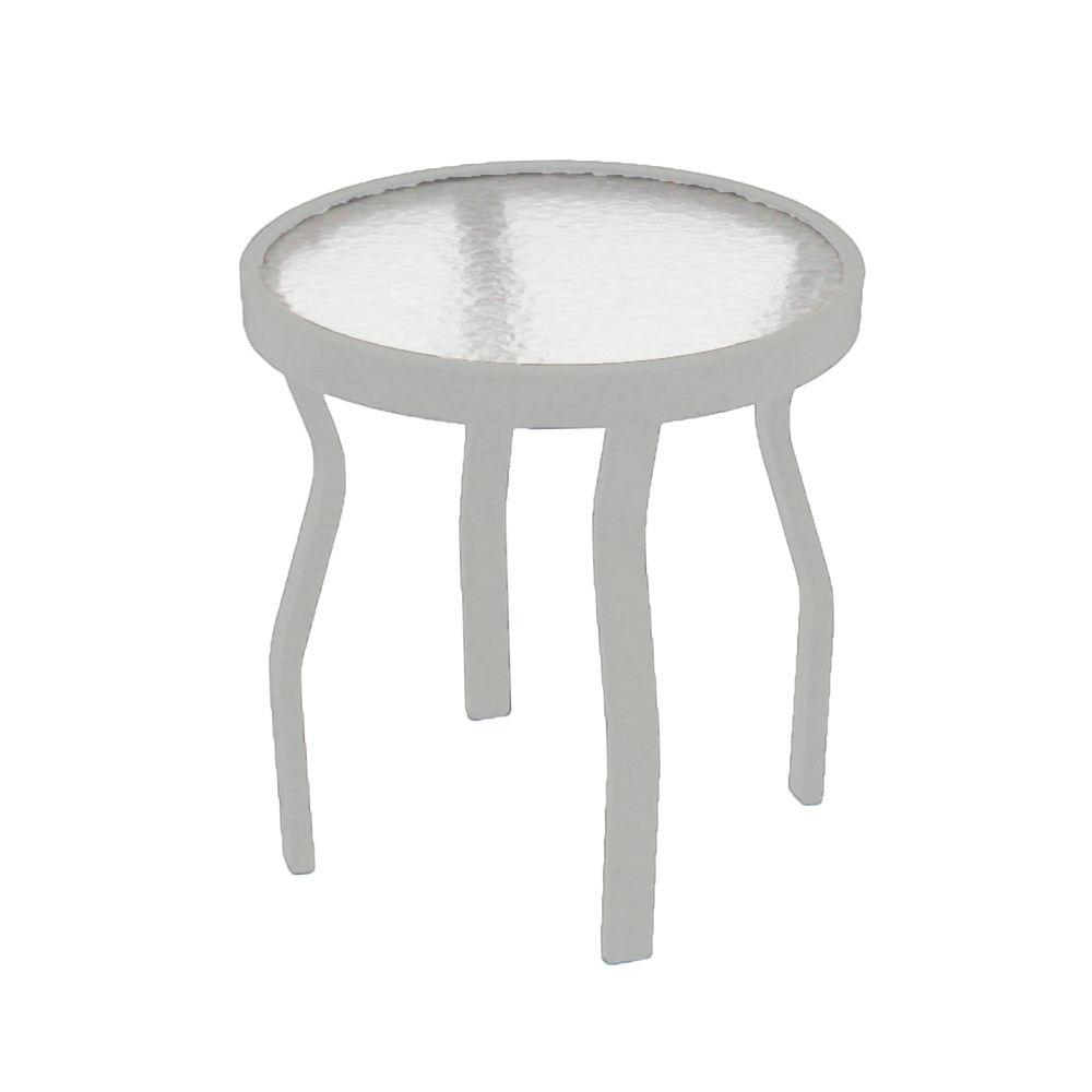 Marco island 18 in white acrylic top commercial metal outdoor patio white acrylic top commercial metal outdoor patio side table watchthetrailerfo