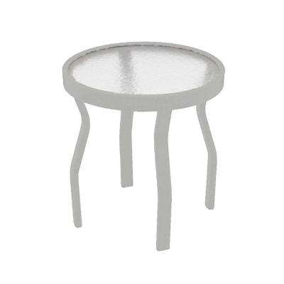 White Acrylic Top Commercial Metal Outdoor Patio Side Table