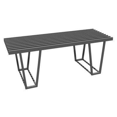 Dean Double Frame Metal Silver Support Bench
