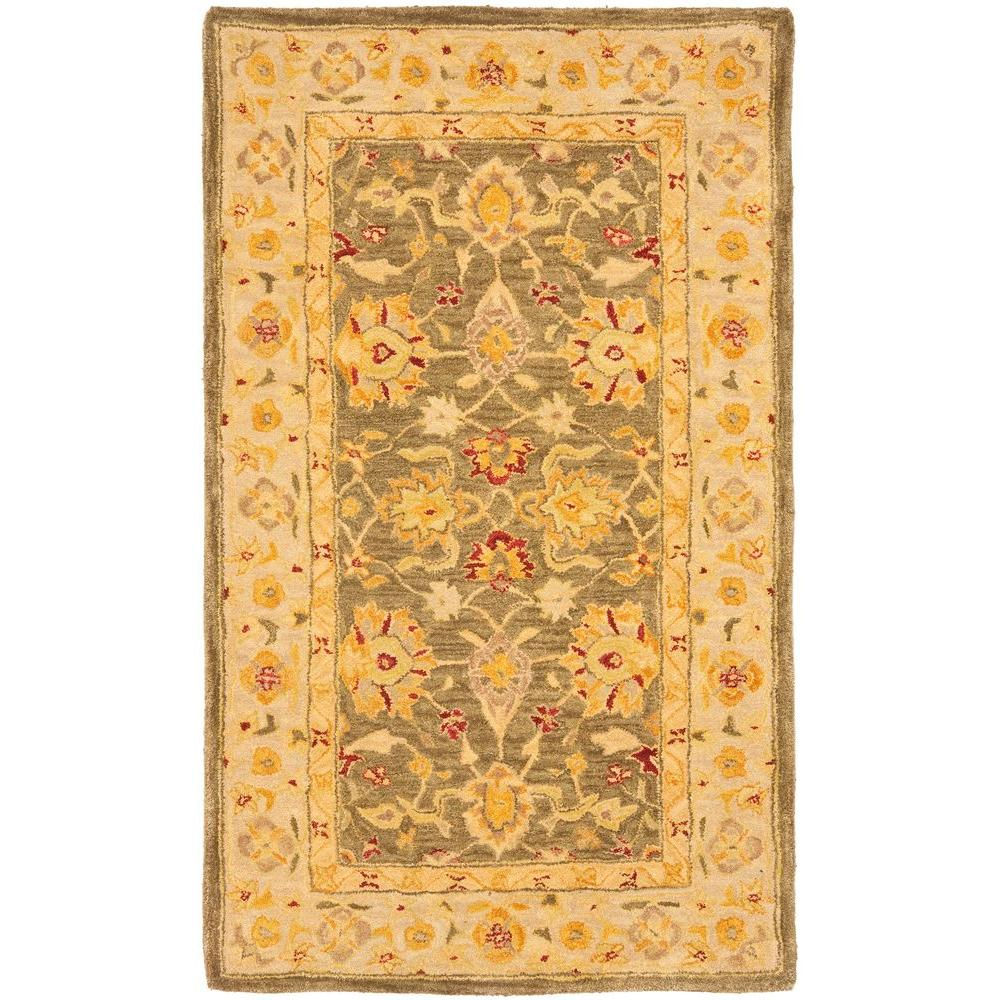 Safavieh Anatolia Green/Gold 4 ft. x 6 ft. Area Rug