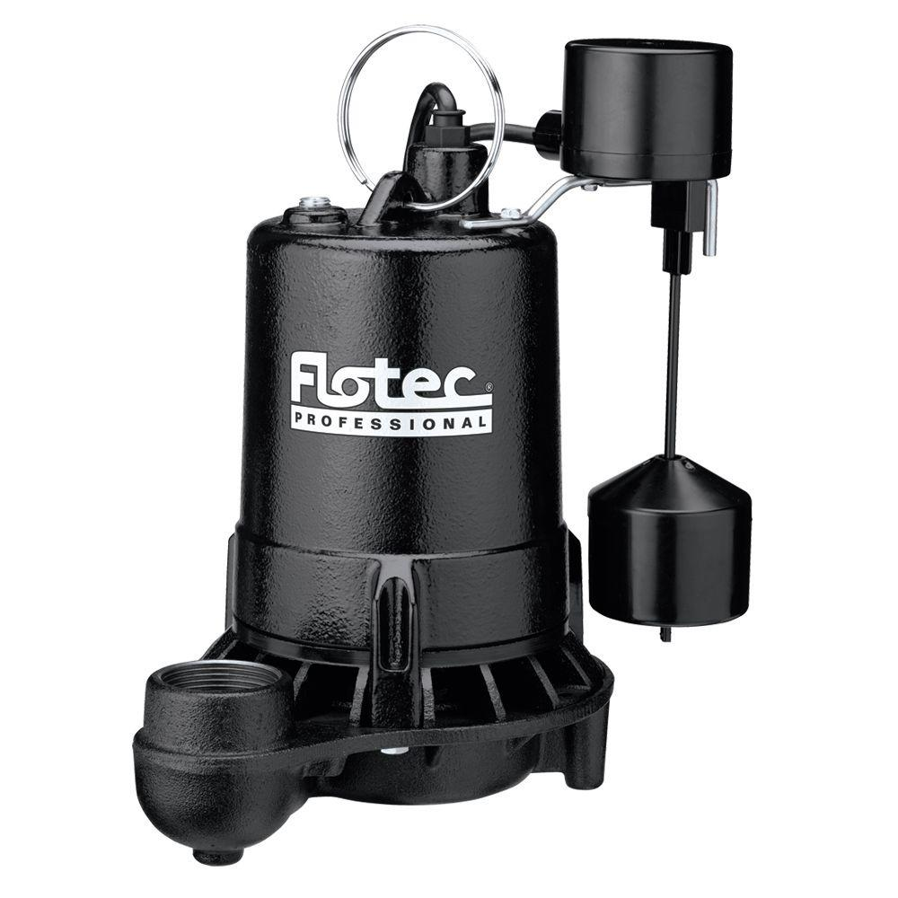 Flotec 1/2 HP Cast Iron Sump with Vertical Float Switch