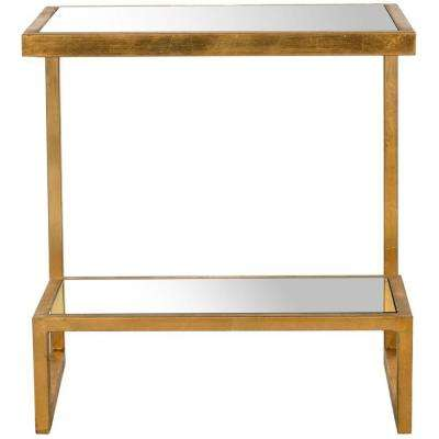 Kennedy Gold Mirror Top End Table